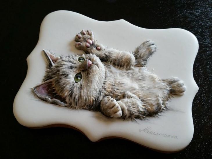 Венгерская художница и шеф кондитер создаёт шедевры искусства из обычного печенья