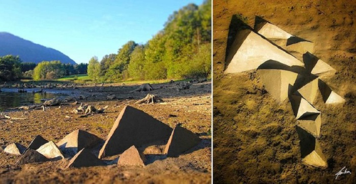 Пирамиды сделанные из ила.