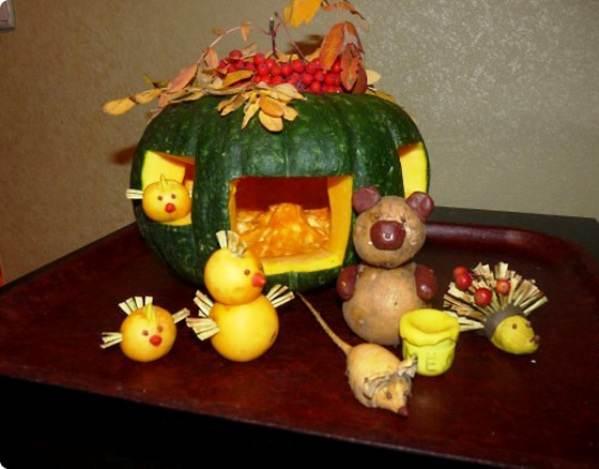 Поделки в детский сад дары осени и