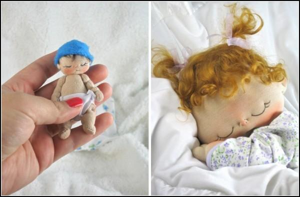 Текстильные маленькие куклы своими руками 5