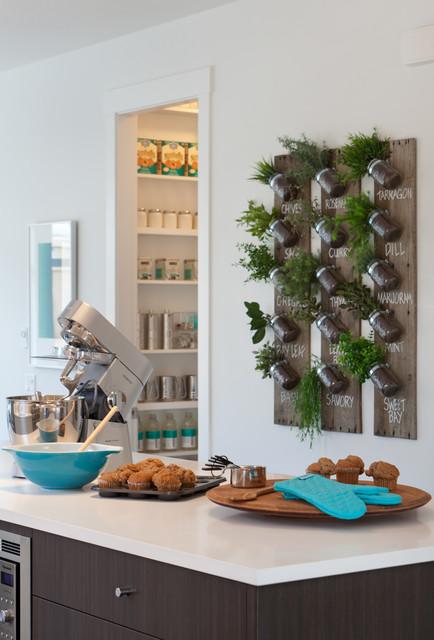 Растения в дизайне кухни