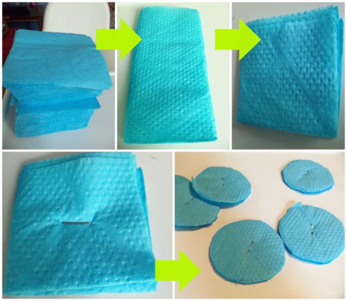 Как сделать 1 из картона на годик пошагово с из салфеток