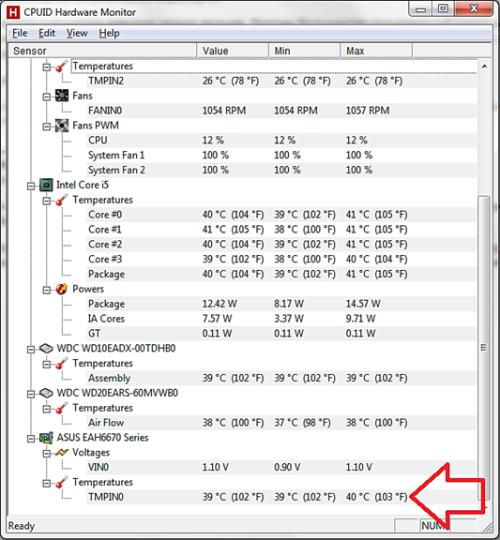Программа Измерения Температуры Процессора Видеокарты