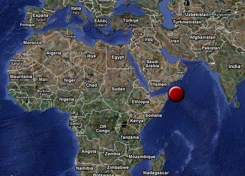 Карта где находится остров Сокотра