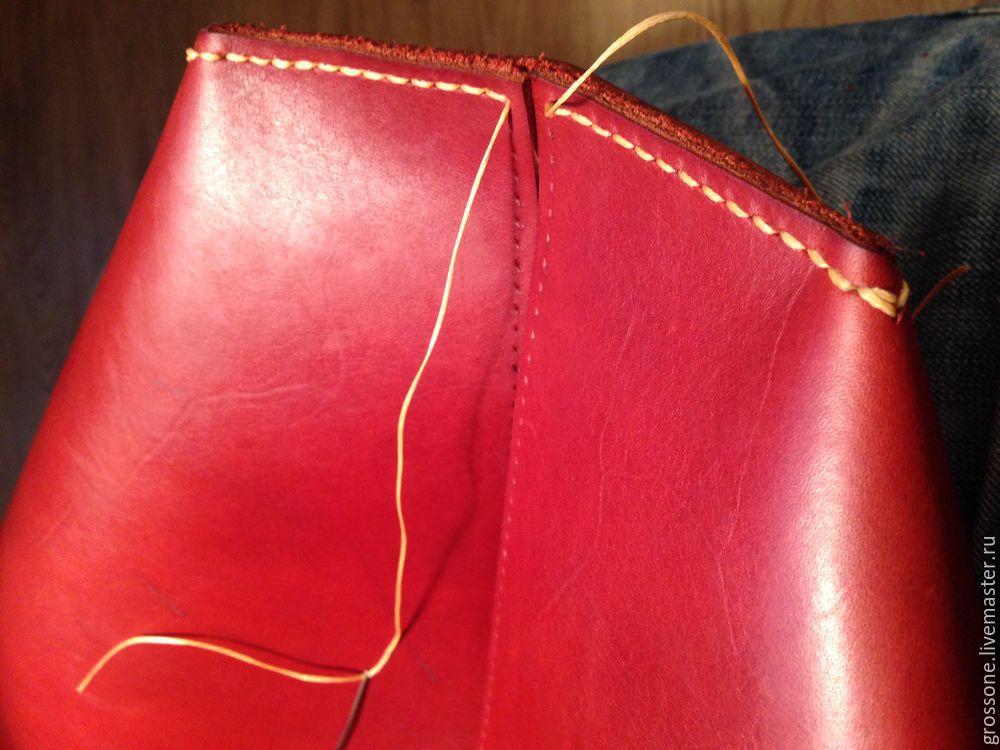 Пошив кожаной сумки своими руками 2