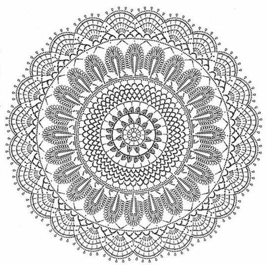 Вязание крючком салфетки коврики схемы 54