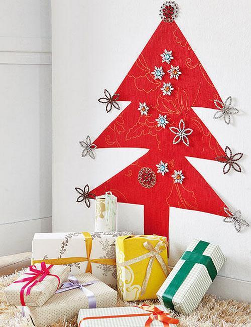 Новогодние поделки своими руками на стену