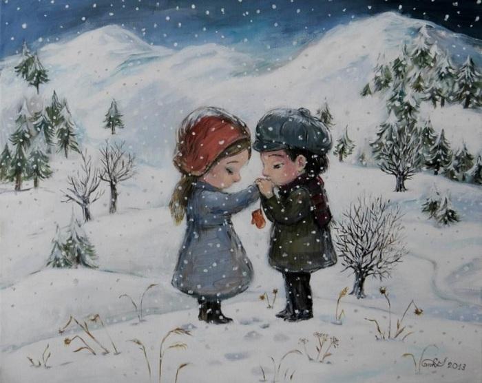 Нынешняя зима словно подарок екимов 26