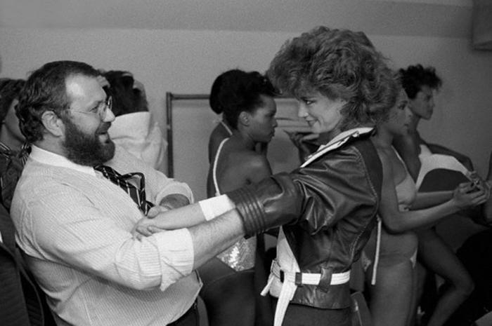 Жанфранко Ферре с моделью, 1982г.| fondazionegianfrancoferre.com.