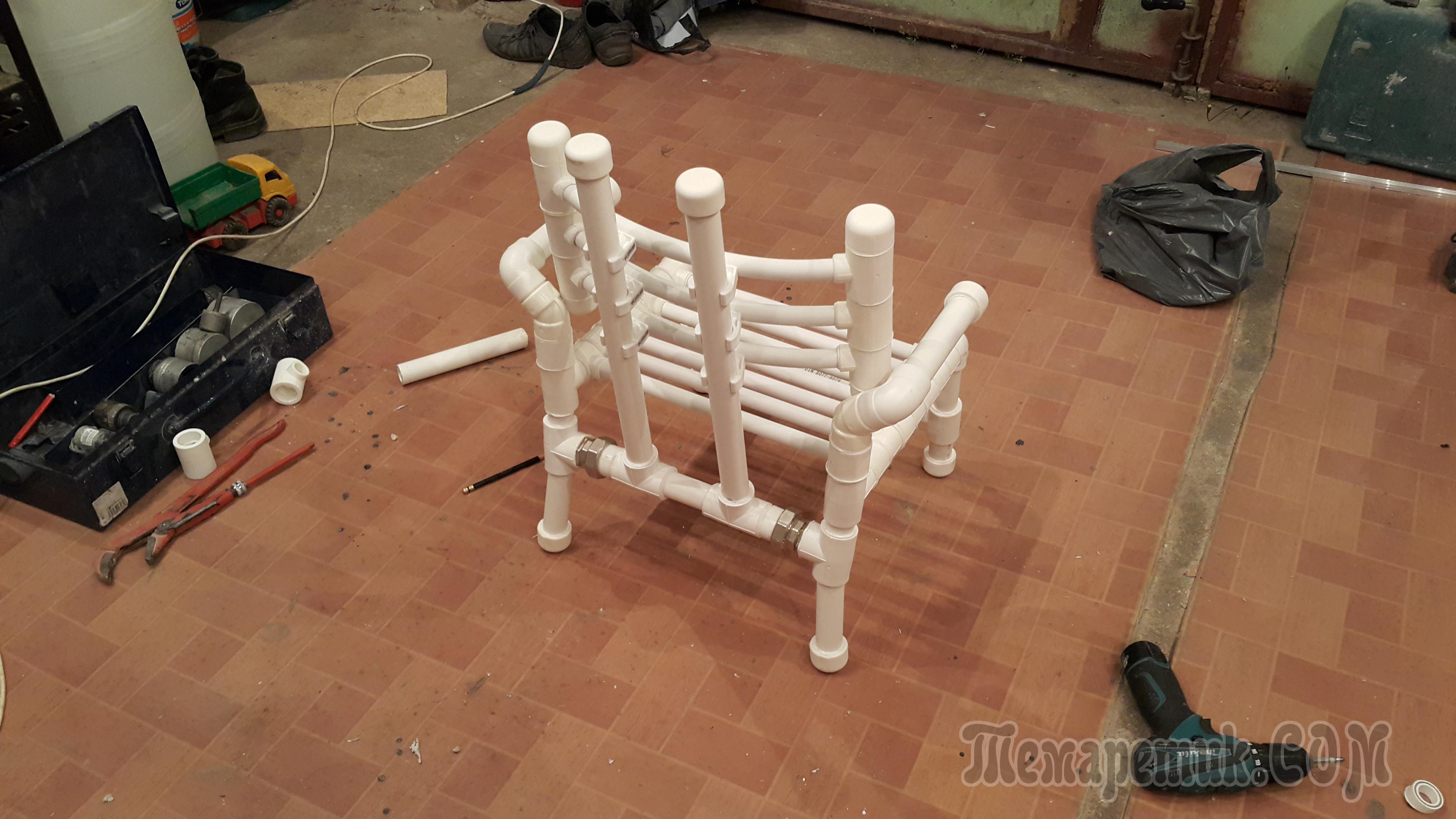 Как сделать мебель из полипропиленовых труб