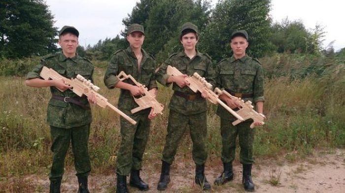 Деревянные войска. армия, военные, прикол, юмор