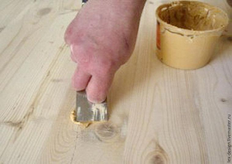 Шпатлевка для дерева своими руками состав