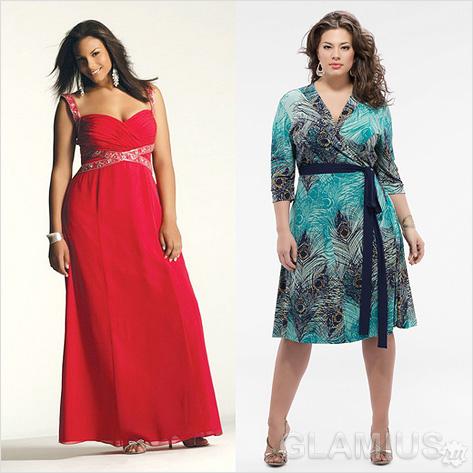 Модные модели платьев для полных женщин из
