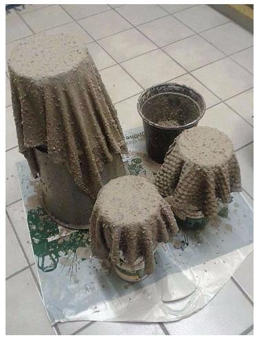 Из бетона и ткани своими руками