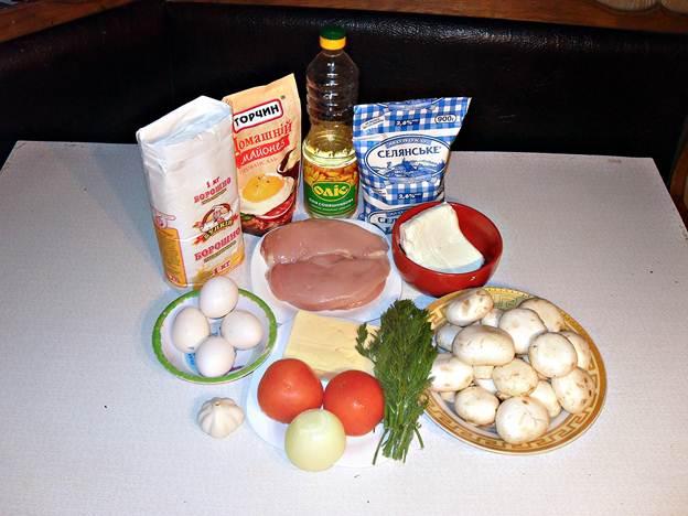 Ингредиенты для блинного торта