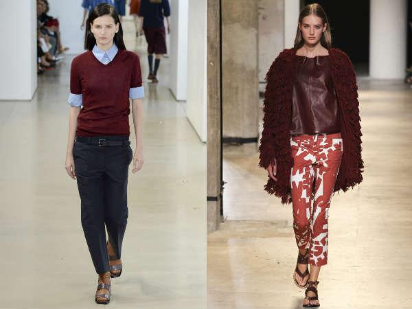 Модный коричнево-красный цвет весна-лето 2015