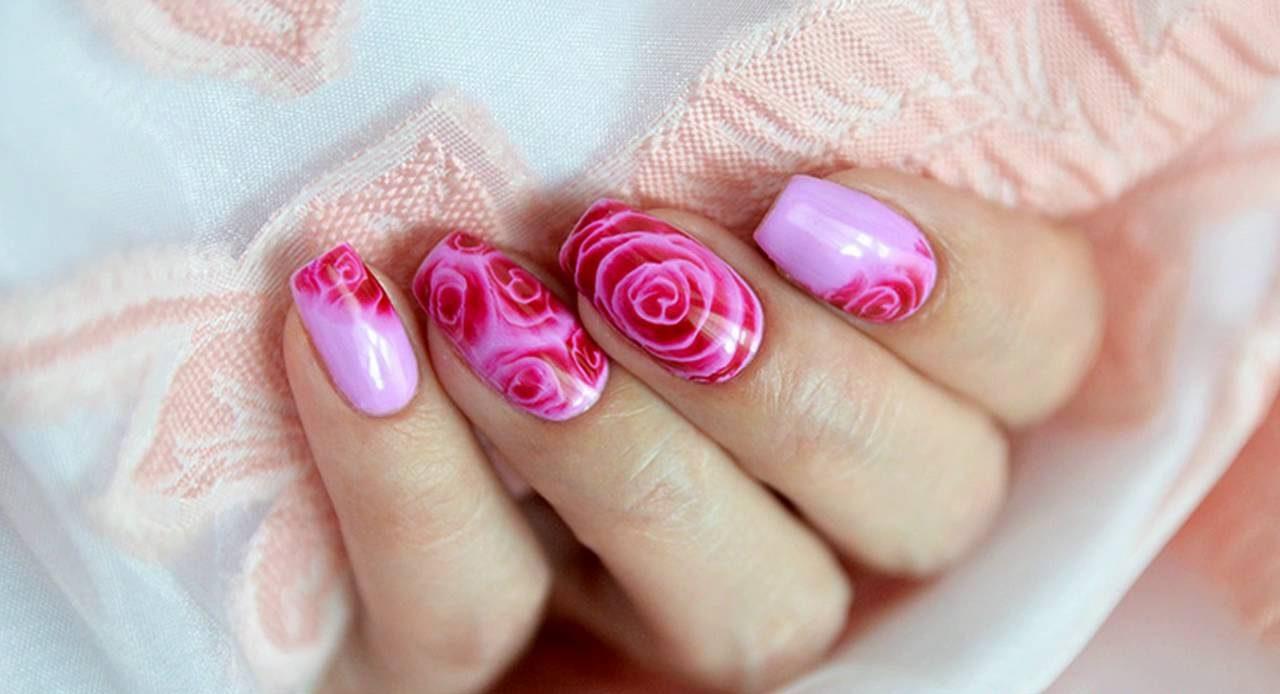 видео урок рисунок роза а ногтях первой разглядела модный