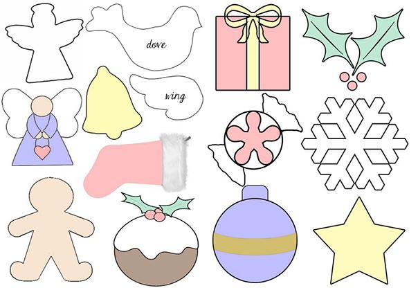 Новогодними игрушки из фетра выкройки своими руками 893