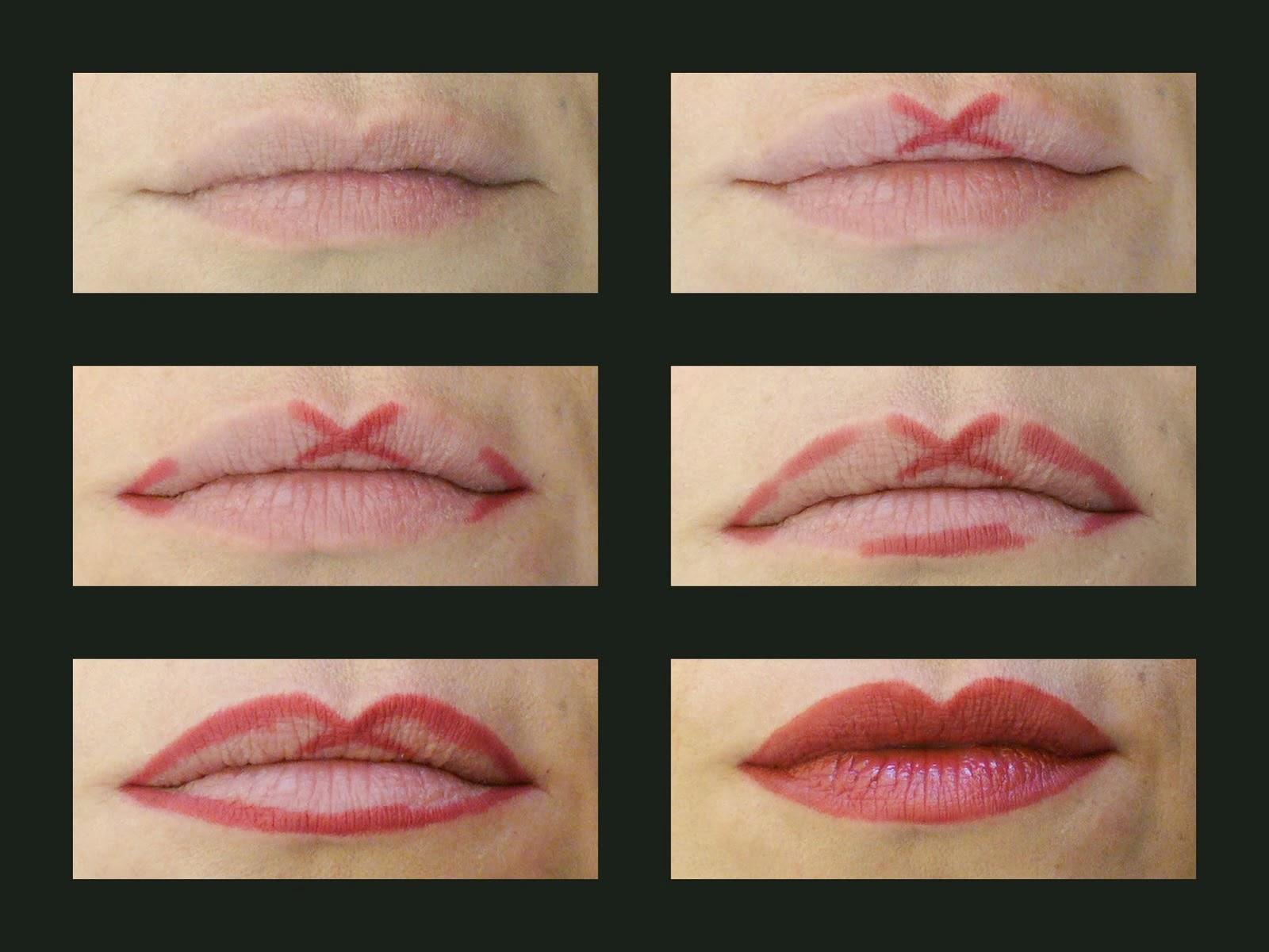 Как накрасить контур губ