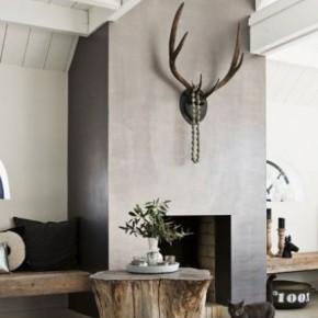 столик из бревна в интерьере