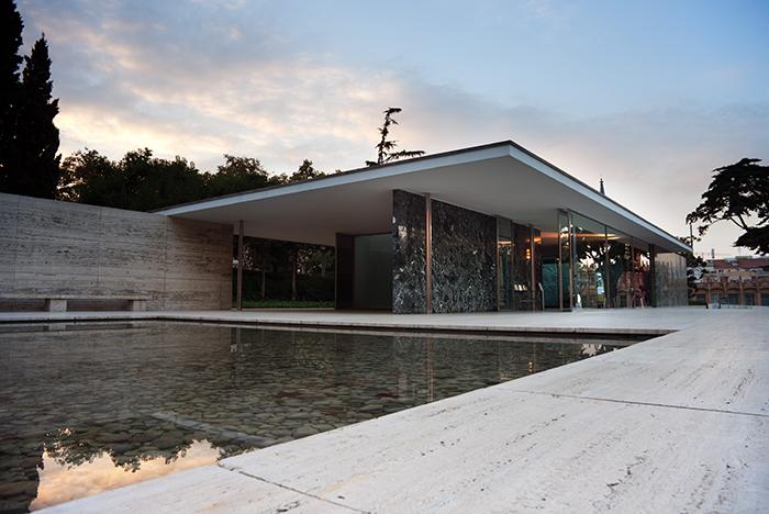 Павильон Германии на международной выставке в Барселоне, Испания