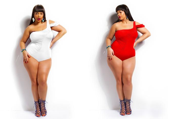 """Модные слитные купальники: стильно и сексуально: """"Monif C."""" - бренд, который специализируется на производстве одежды для женщин с аппетитными формами. В этом купальнике девушки """"plus size"""""""