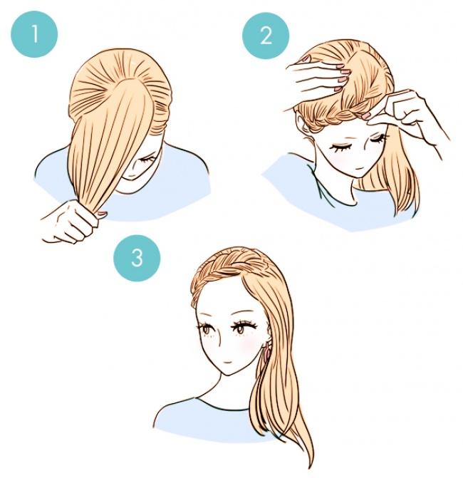 прически на длинные волосы сделать за 5 минут с челкой