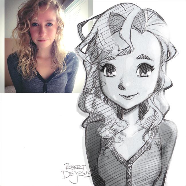 Как сделать свой портрет аниме
