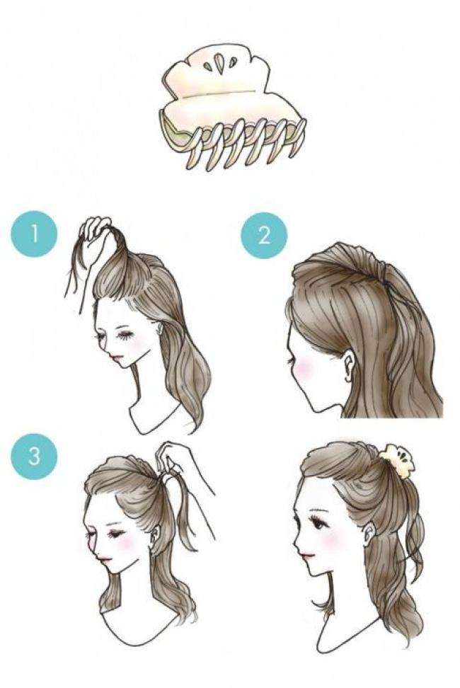 Причёски для коротких волос картинки поэтапно