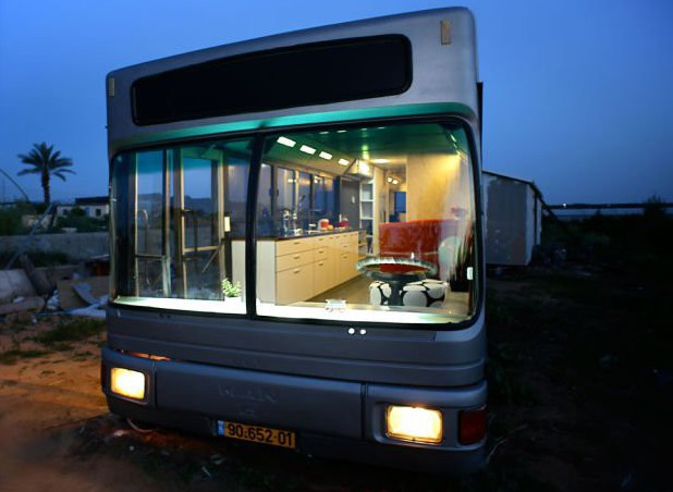 3. Роскошный дом на колесах автобус, креатив, луаз