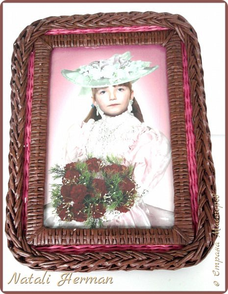 Мастер-класс Рама паспарту Плетение Рамочки Трубочки бумажные фото 10