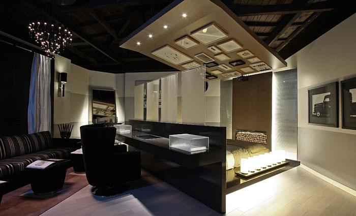Потрясающее сочетание кровати и рабочего стола