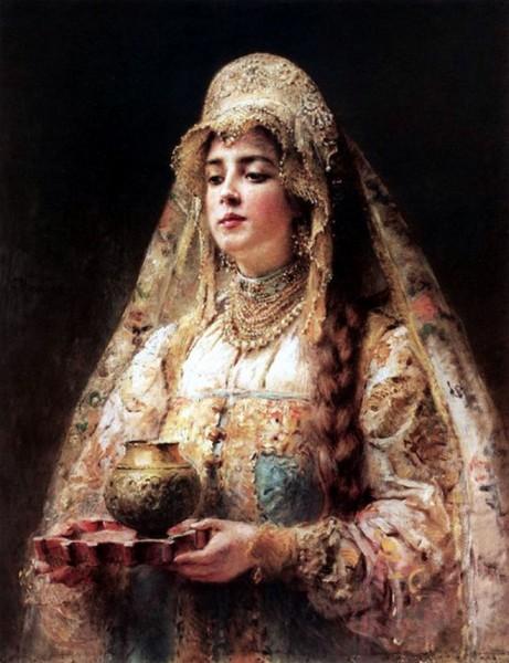 Русский костюм в живописи русского живописца Константина Маковского
