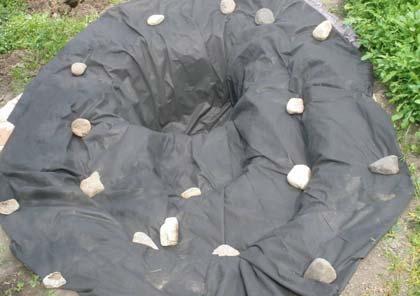 применение геотекстиля на даче