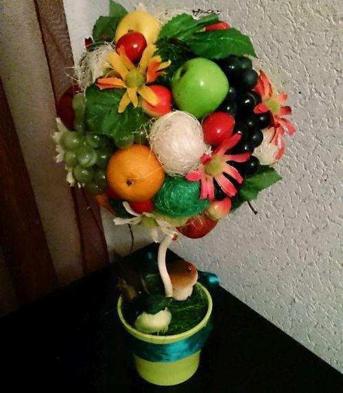 Топиарии из муляжа фруктов