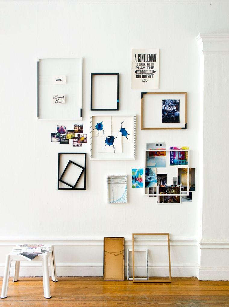 Рамки без фото в интерьере