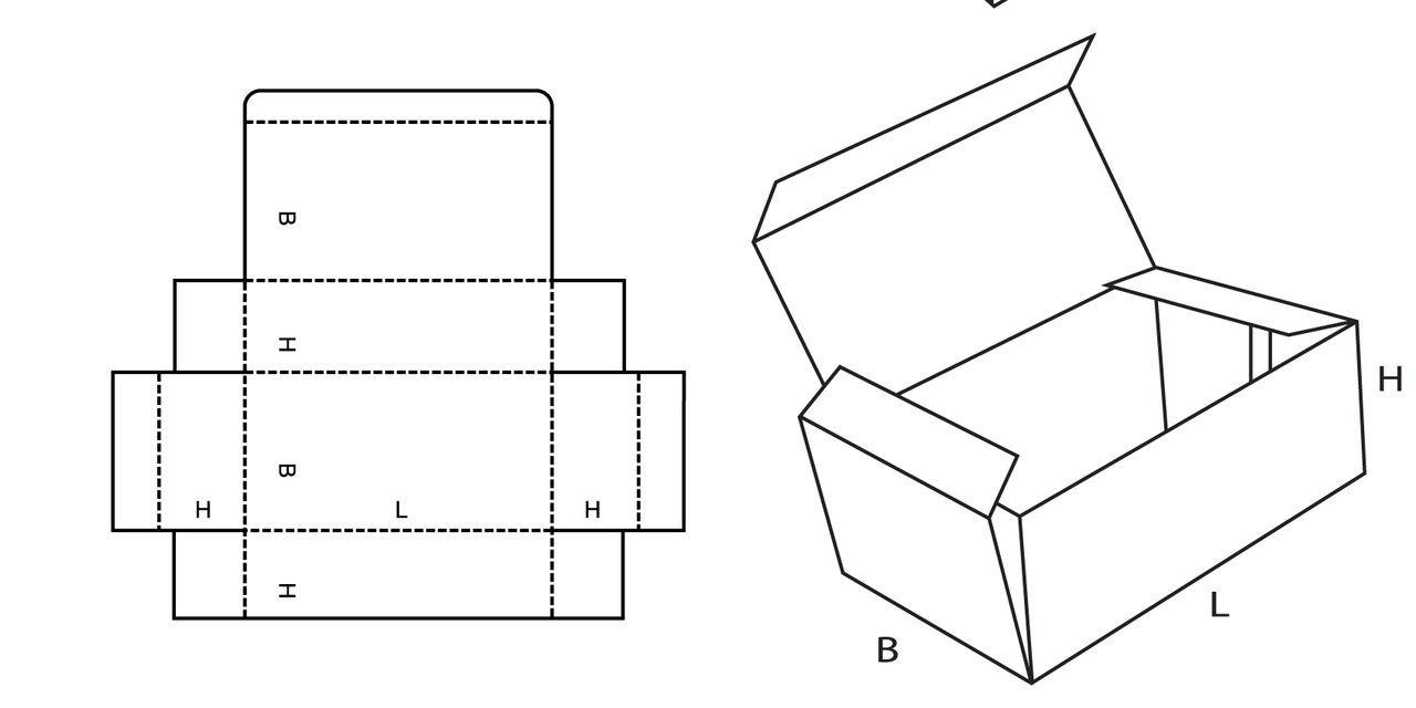 Коробочки из картона схемы с крышкой