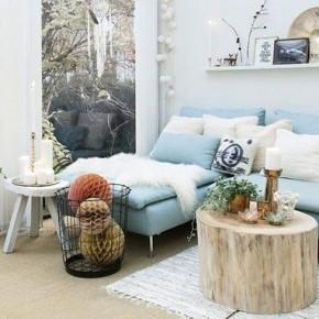 мебель из пня для гостиной в скандинавском стиле