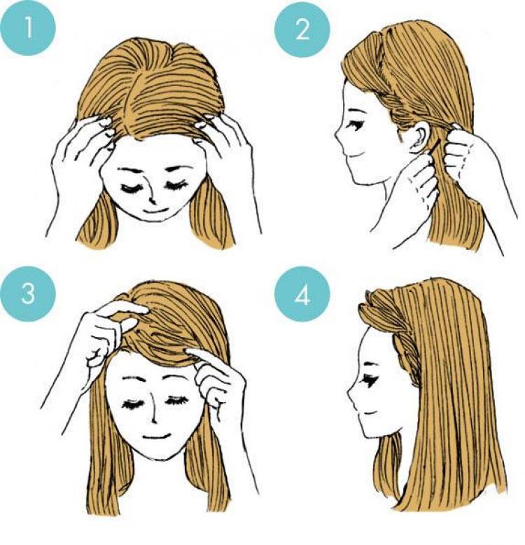 Как сделать причёску из чёлки 794