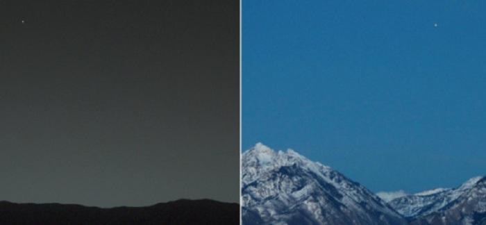 Впечатляющие снимки с двух разных планет Солнечной системы.