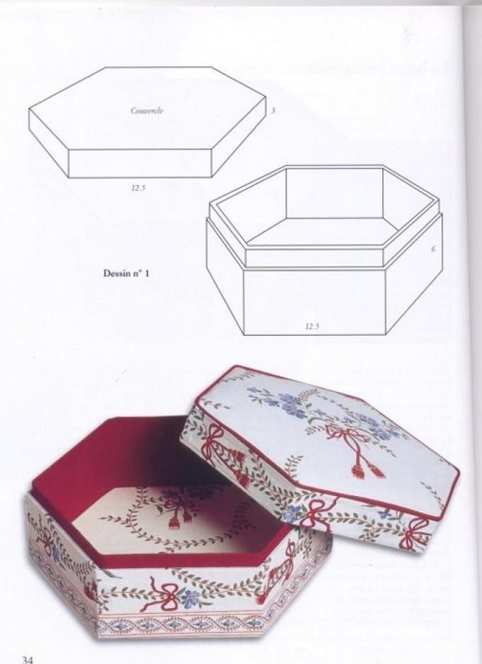Шкатулка из картонной коробки своим руками