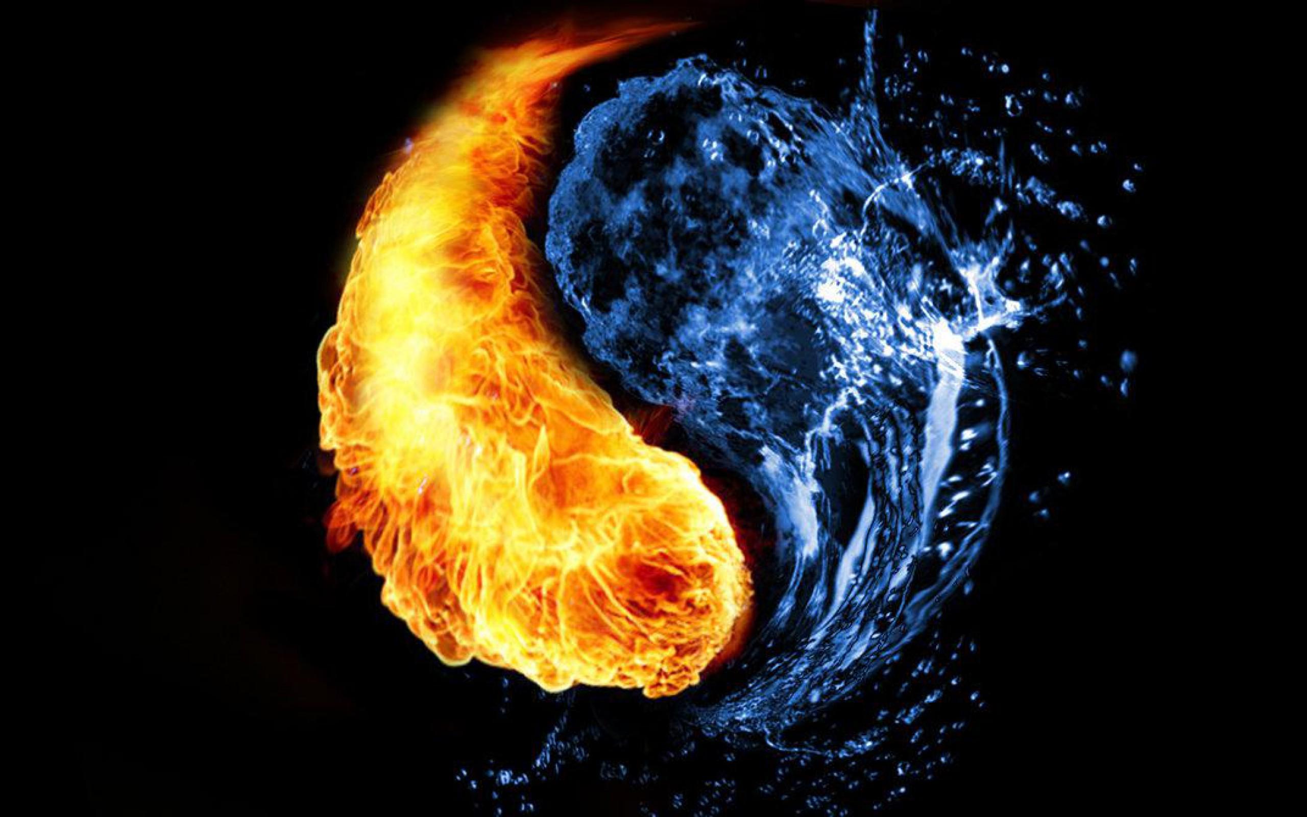обои на рабочий стол вода и огонь и вода № 153622  скачать