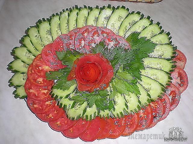 Оформления салатов для праздников