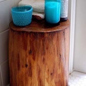 тумба для ванной из пня
