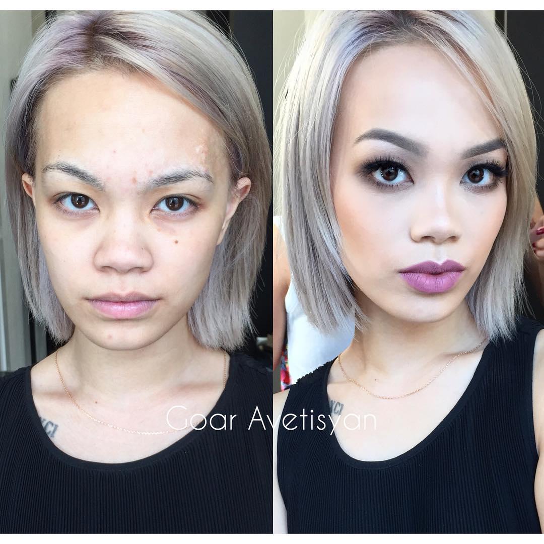 Гоар аветисян до и после макияжа фото