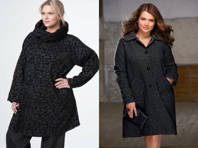 Пальто осень 2017 женские для полных