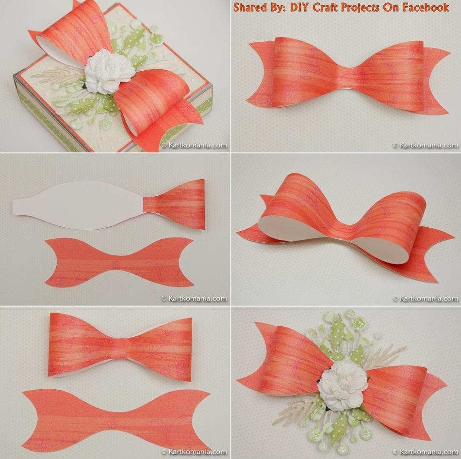 Как из бумаги сделать красивый бантик