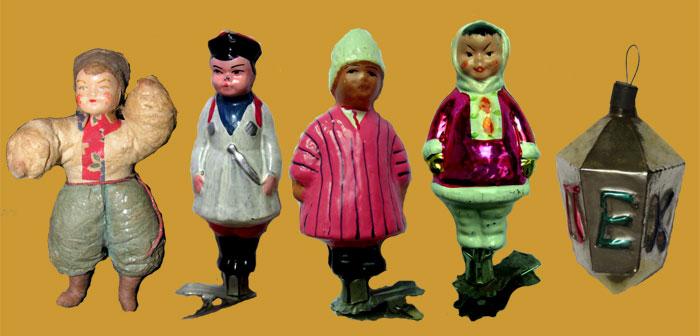 Дружба народов в СССР и не только. Справа фонарик на гранях которого значится «Пекин» - Русский с китайцем братья навек…