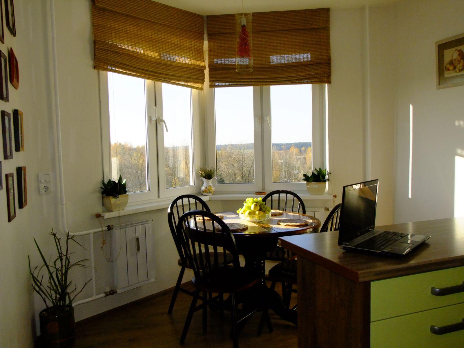 Модные шторы на кухню - 30 вариантов!.