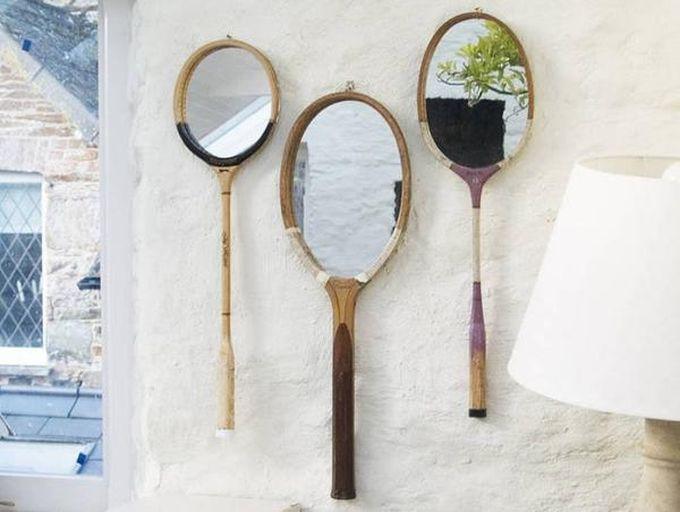 10. Зеркала из теннисных ракеток креатив, переделка, своими руками